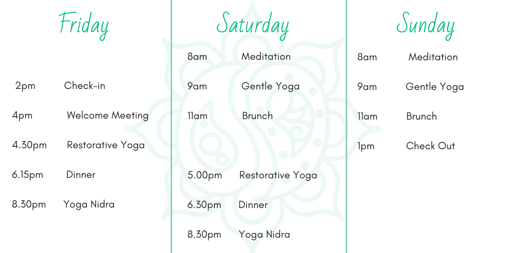Weekend Retreat Schedule Prana